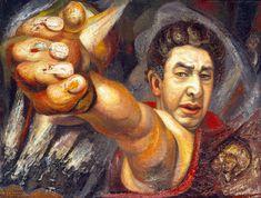 DAVID ALFARO SIQUEIROS, Autorretrato, 1945