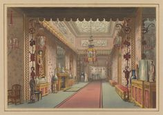 "Brighton Royal Pavilion, England, UK. ""Chinese Gallery As It Was, Plate XV in Illustrations of Her Majesty's Palace at Brighton...Printed by T. Sutherland, Frederic Lewis, Robert Havel Jr., and M. Dubourg. Published by J. B. Nichols and Son, London, England, 1838."", 1820"