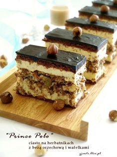 I'll eat it! Polish Desserts, Polish Recipes, Sweet Recipes, Cake Recipes, Dessert Recipes, Cake Cookies, Cupcake Cakes, Yummy Treats, Delicious Desserts
