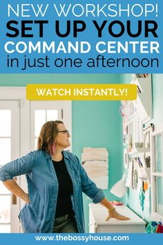 In this free, on-demand workshop, find out how to reduce the stress of parenting and running a home with my step-by-step training on how to create your command center. Click here to watch today! #commandcenter #organization Volunteer Services, Family Command Center, Overwhelmed Mom, Parent Resources, Single Parenting, Organizing Your Home, Working Moms, Raising Kids, Time Management