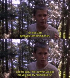 River Phoenix as Chris Chambers in Stand by Me 1986 80s Movies, Iconic Movies, Great Movies, Movie Tv, Classic Movies, King Kong, Movies Showing, Movies And Tv Shows, Os Goonies