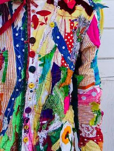 Selene Gibbous, upcycled fabrics. Take a look at some of the other upcycled clothing. Very cool.