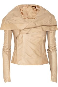 Love the antique rose hue of this Rick Owens leather jacket.  Just a little something different.  Via Net-A-Porter