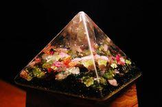 Watermelon Tourmachine  Orgone Energy Pyramid   by HighVibes, $55.00