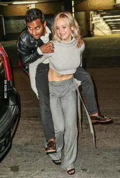 Aziz Ansari riding Jennifer Lawrence