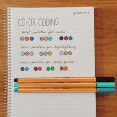 day 4 of the #14daysofrevision challenge : colour coding palettes. first row…