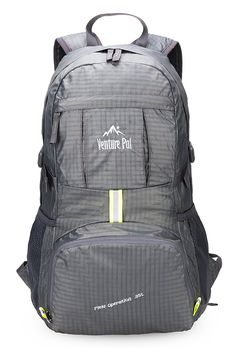 Venture Pal Lightweight Packable Durable Travel Hiking Backpack Daypack Grey