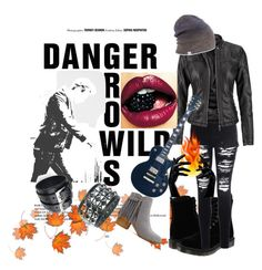 """danger grows villd"" by berbicazemina ❤ liked on Polyvore featuring Dr. Martens, Glamorous, maurices and Coal"