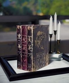 Stacked Antique Book Box - Wedding Card Boxes - Wedding Accessories