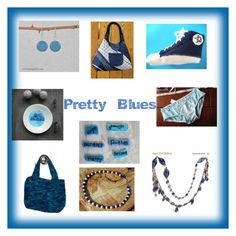 """""""Pretty Blues"""" by amy-l-delong ❤ liked on Polyvore"""