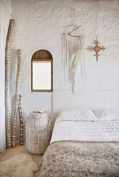 Boho Chic Home With Mexican Decor Touches - DigsDigs Surf Decor, Home Bedroom, Bedroom Decor, Bedroom Ideas, Master Bedroom, Bedroom Interiors, Bedroom Retreat, Bedroom Designs, Deco Boheme Chic