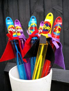 Superhero bubble swords: kids superhero party bag alternative, superhero party favours – Snip Snap Snout