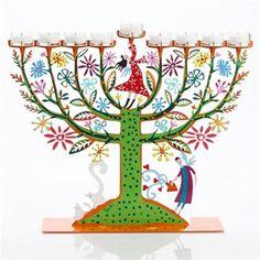 Menorah - The Family Tree Hanukkah Menorah by Tzuki Art.  Beautifully designed by Tzuki Studio, this handcrafted Hanukkah menorah celebrates family joy and togetherness during this Jewish holiday.