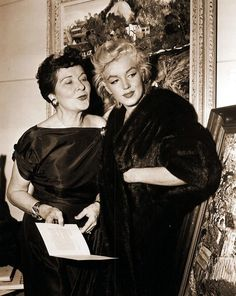 Marilyn photographed with Gladys Lloyd wife of Edward G.Robinson.
