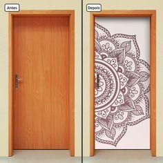Space Drawings, Iron Wall Decor, Unusual Art, Flower Doodles, Door Makeover, Door Wall, Painted Doors, Mandala Design, Door Design