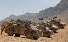 Australian BUSHMASTERS provide security at the site for the new Forward Operating Base (FOB), at the entrance to the Baluchi Valley, Afghanistan.
