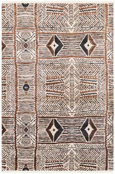 Zambia Cream/Dark Brown/Black Area Rug