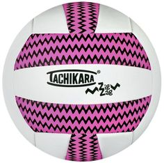 Tachikara-Sof-Tec-ZIGZAG-IndoorOutdoor-Volleyball-PinkWhite #volleyball #sports