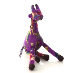 Pelúcia Al Girafa Toy Roxo | iBacana