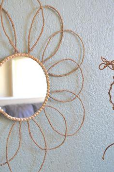 Target Knock-off Twine Sunburst Mirror-with a Twist!
