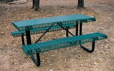 Picnic Tables. The best choice for corrosive-free, maintenance-free, outdoor furniture is Thermo-Plastic, PVC coating over steel. Our tables and benches have become the standard everywhere rugged, highly used product is required because THEY ARE THE STRONGEST, MOST DURABLE THERMO-PLASTIC COATED TABLE ON THE MARKET.