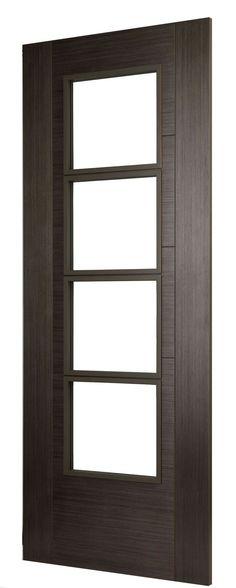 ISEO K4514 GREY COTO - high quality Grey Coto Veneer door. Veneer Door, Wood Veneer, Timber Door, Wooden Doors, Grey Internal Doors, Viking House, High Wycombe, Real Wood, Davos