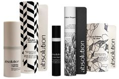 nice graphic packaging for french skincare line