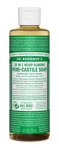 Dr Bronners PureCastile Liquid Soap 8 oz Almond ** You can get additional details at the image link. Note:It is Affiliate Link to Amazon.