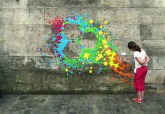 Colorful Origami Street Art by Mademoiselle Maurice