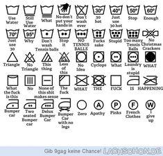 Waschanleitung für Männer - Waschanleitung,trocknen,waschen,bügeln,Zettel,Etikett