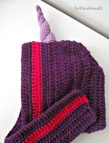 lostsentiments: Free Amigurumi Crocheted Unicorn Horn Pattern