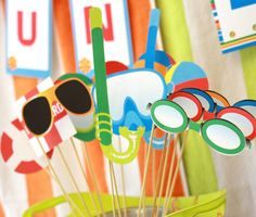 Pool Party: Printable Photo Booth Props