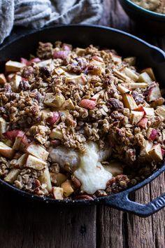 Apple Crisp Baked Brie | halfbakedharvest.com @hbharvest