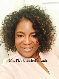 FreeTress GoGo Curl is an excellent look for the summer! Hair installed by Ms. Pk's Crochet Braids located in GA.
