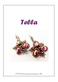 Lovely earrings ~ nice tutorial!  Downloads as a PDF. Not in English but great pictures