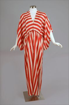 Bil Tice Silk Striped Caftan 1970's or 80's.  From Maire McLeod Gallery