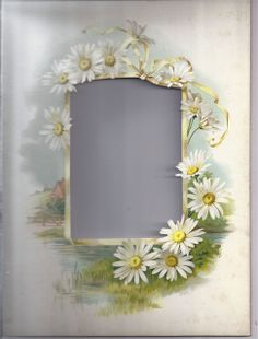 Lovely Page from Victorian Album, Chromolithograph, Die-Cut