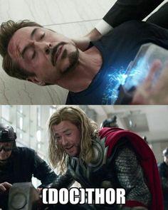 Avengers Humor, Funny Marvel Memes, Dc Memes, Marvel Jokes, Funny Memes, Thor Meme, Movie Memes, Marvel Squad, Marvel Dc