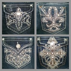 Booty bling from Vault Denim! I know a chic who can hook ya up! ;)