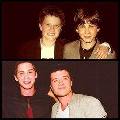 Josh Hutcherson and Logan Lerman. They have the most attractive friendship I've ever seen