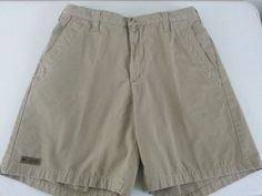 COLUMBIA SPORTSWEAR CO. Men's Shorts 36 Beige Solid Pleated Shell: 100 % Cotton #Columbia #CasualShorts #ebay #Columbia #CasualShorts #36Beige