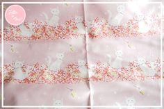 【Ellie&M's fabric】 キラキラハートな白猫たち