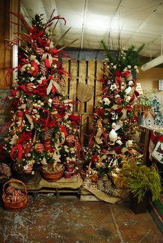 Farm themed Christmas decorations.  Christmas 2013