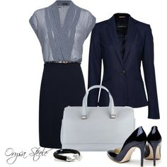 Navy and grey, great work outfit