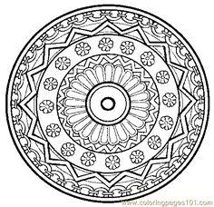 Printable Mandala Coloring Book | free printable coloring page Mandala Coloring Page 24 (Cartoons ...