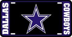 Dallas Cowboys Star Americas Team NFL Football Vinyl Black Car License Plate #DiamondDecalz