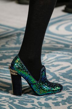 Bug-inspired iridescent Tory Burch heels