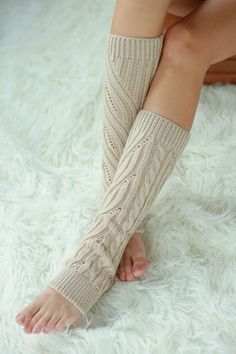 Cable Knit Leg Warmers - Livin' Freely Cozy cable knitted leg warmers.