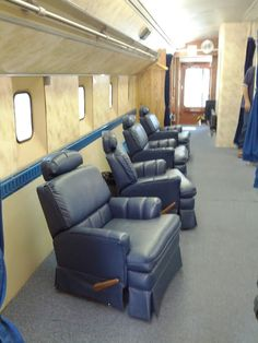 If you landed in the Space Shuttle, this was your mobile living room for post-flight medical checks. Sorry no Xbox. And yes just like the old Dulles people movers. #nasasocial