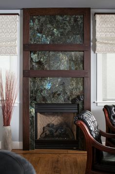 Labradorite Blue fireplace